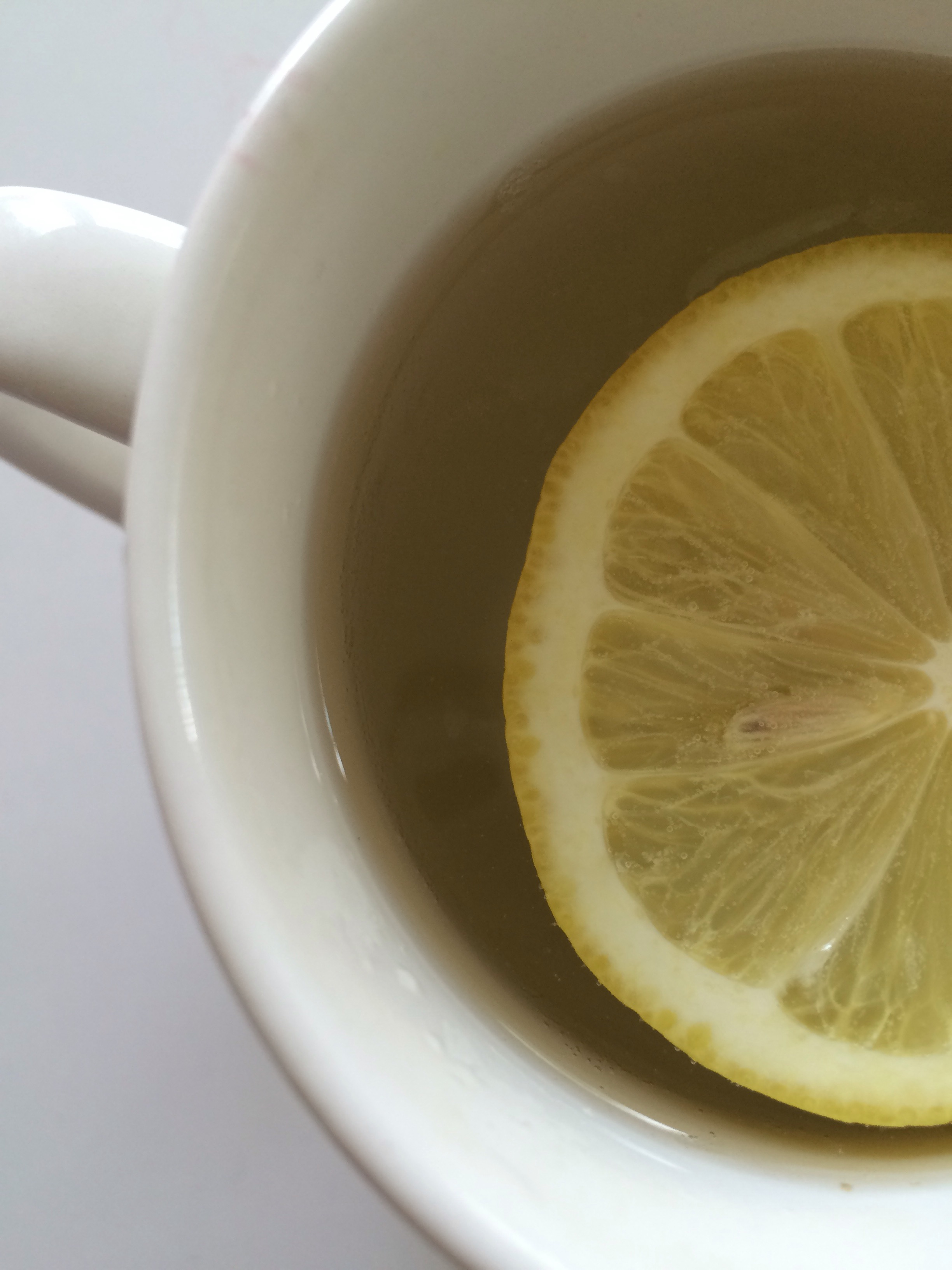 morning warm lemon water