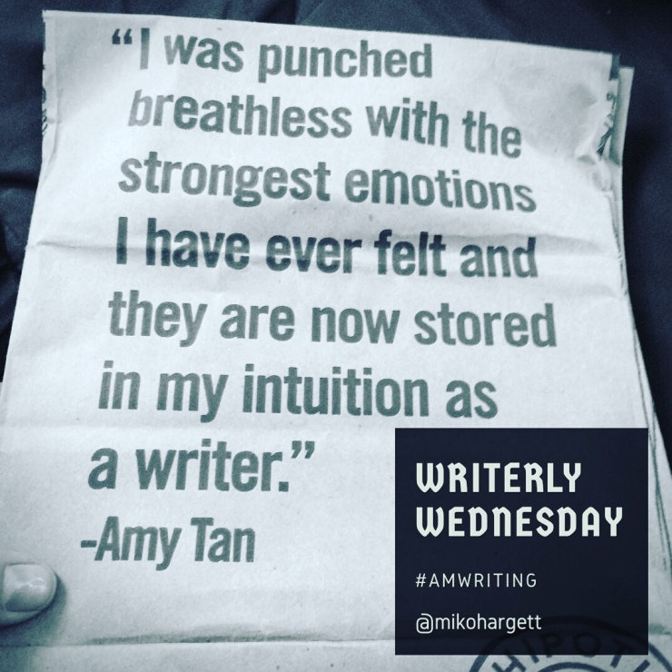 """I was punched breathless with the strongest emotions I have ever felt and they are now stored in my intuition as a writer. """" - Amy Tan"""