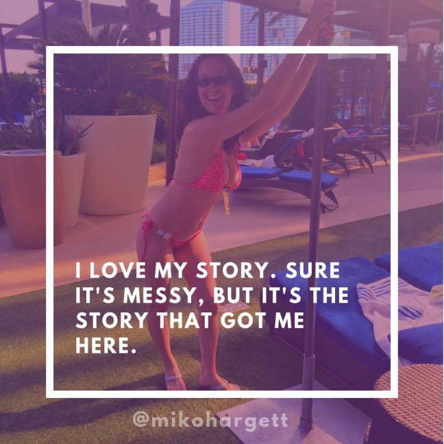 I love my story - Miko in Las Vegas in a coral bikini